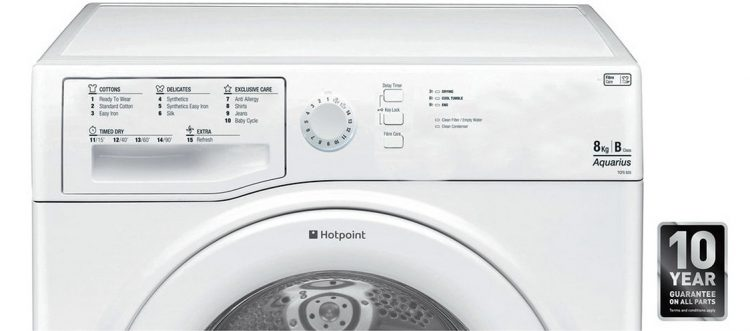 Hotpoint TCFS835GP available dials and buttons